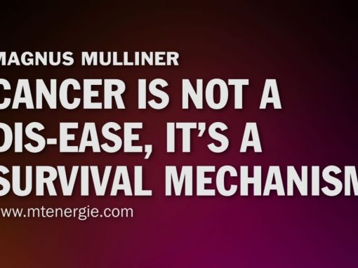 Cancer is not a dis-ease, it's a survival mechanism